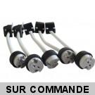 Douille GU5.3 Complète Avec Raccord Protégé, Pour Ampoules Halogene et Led