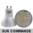 Ampoule GU10 à 48 LEDs SMD Blanc Chaud, Diffusion 120°