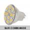 Ampoule à 12 leds SMD Blanc Chaud Culot MR11 (GU4).  Diffusion exceptionelle a 120°