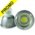 Ampoule LED GU10 5W COB - 6000K 350 Lumens 120° Angle - Eclaire 50W Halogene