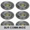 LOT DE 6 SPOT LED FIXE COMPLETE ALU BROSSE AVEC COB LED 5W BLANC NEUTRE