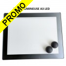 Table lumineuse en verre acrylique 40 LED 6000K format A3