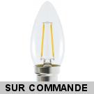 Ampoule Led Flamme Filament 4 watt (éq. 42 Watt) Culot B22 à baïonnette