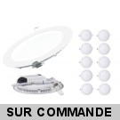 Lot de 10 Spot Encastrable LED Downlight Panel Extra-Plat 18W Neutre 4200-4500K