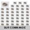 LOT DE 50 SPOT LED CARRE BLANC 230V COB LED 5W RENDU 50W BLANC CHAUD