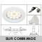LOT DE 3 SPOT LED COMPLETE RONDE FIXE eq. 50W BLANC CHAUD