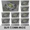 LOT DE 12 SPOT LED CARRE 230V ALU BROSSE COB LED 5W RENDU 50W BLANC NEUTRE