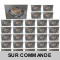 LOT DE 30 SPOT LED CARRE 230V ALU BROSSE 38° LED 5W RENDU 50W BLANC CHAUD