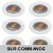 LOT DE 6 SPOT ENCASTRABLE FIXE LED GU10 230V BLANC AVEC COB LED 5W RENDU ENVIRON 50W HALOGENE