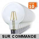 Lot de 10 Ampoules Led Filament Globe G95 Style Edison 7 watt (eq.52 watt) Culot E27