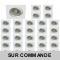 LOT DE 30 SPOT LED CARRE BLANC 230V 5W 38° RENDU eq. ENV 50W BLANC NEUTRE