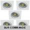 LOT DE 5 SPOT LED CARRE BLANC 230V 5W 38° RENDU eq. ENV 50W BLANC NEUTRE