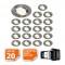 LOT DE 20 SPOT LED ENCASTRABLE COMPLETE ORIENTABLE ALU BROSSE AVEC AMPOULE GU10 230V 5W, BLANC NEUTRE