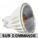 Ampoule LED GU10 5W COB - 3000K 380 Lumens 90° Angle - Eclaire 50W Halogene