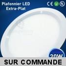 Lumière Plafond LED 20 Watts - Dépolie - Diamètre 240 mm