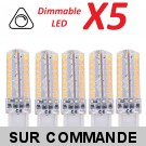 Lot de 5 Ampoules led G9 3.6 watt (eq. 35watt) Compatible Variateurs