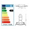 LOT DE 25 SPOT LED ENCASTRABLE COMPLETE ORIENTABLE ALU BROSSE AVEC AMPOULE GU10 230V eq. 50W, BLANC CHAUD