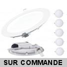 Lot de 5 Spot Encastrable LED Downlight Panel Extra-Plat 18W Blanc Froid 6000K