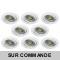 LOT DE 8 SPOT LED RONDE BLANC ORIENTABLE 5W 38° BLANC NEUTRE