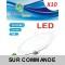 Lot de 10 Spot Encastrable LED Downlight Panel Extra-Plat 7W Blanc Froid 6000K