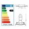 LOT DE 50 SPOT LED ENCASTRABLE COMPLETE ORIENTABLE ALU BROSSE AVEC AMPOULE GU10 230V 5W, BLANC NEUTRE