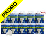Lot de 10 Ampoules GU10 5W eq. 40W 6000K Blanc Froid Marque V-TAC