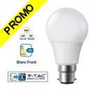 Ampoule LED V-TAC Culot B22 10W (éq. 60W) 806lm angle 200° lumière blanc froid 6000K