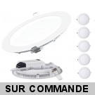 Lot de 5 Spot Encastrable LED Downlight Panel Extra-Plat 18W Blanc Neutre 4200-4500K