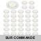 LOT DE 40 SPOT LED COMPLETE RONDE FIXE eq. 50W BLANC CHAUD