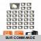 LOT DE 30 SPOT ENCASTRABLE ORIENTABLE LED CARRE ALU BROSSE GU10 230V eq. 50W BLANC CHAUD