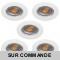 LOT DE 5 SPOT ENCASTRABLE FIXE LED GU10 230V BLANC AVEC COB LED 5W RENDU ENVIRON 50W HALOGENE