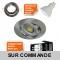 LOT DE 6 SPOT LED RONDE ALU BROSSE 230V 5W RENDU 50W BLANC NEUTRE
