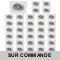 LOT DE 40 SPOT LED CARRE BLANC 230V COB LED 5W RENDU 50W BLANC NEUTRE