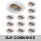 LOT DE 15 SPOT LED RONDE BLANC 230V COB LED 5W RENDU 50W BLANC CHAUD