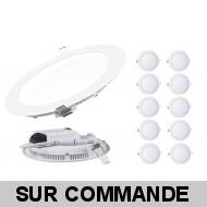 Lot de 10 Spot Encastrable LED Downlight Panel Extra-Plat 3W Blanc Neutre 4200-4500K