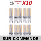 Lot de 10 Ampoules led G9 3.6 watt (eq. 35watt) Compatible Variateurs