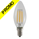 Ampoule LED COB Filament 4 watt (équivalent 42 Watt) E14 à visser luminosité chaude.
