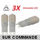 Lot de 3 Ampoules led G9 2 watt (eq. 20watt) 2700K Blanc Chaud Compatible Variateurs