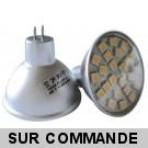 10 Ampoules MR16 (GU5.3) à 24 LED 5050 SMD Blanc Chaud - Eclaire Comme 50W Halogène