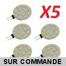 Lot de 5 Ampoules G4 à 12 Leds SMD 5730 Blanc Froid AC/DC 10-30V