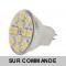 Lot de 5 Ampoules à 12 leds SMD Blanc Chaud Culot MR11 (GU4).  Diffusion exceptionelle a 120°