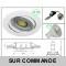 LOT DE 10 SPOT LED RONDE BLANC 230V COB LED 5W RENDU 50W BLANC NEUTRE