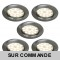LOT DE 5 SPOT LED ENCASTRABLE COMPLETE RONDE FIXE ALU BROSSE eq. 50W BLANC CHAUD 3000K