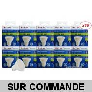 Lot de 10 Ampoules GU10 5W eq. 40W Blanc Froid Marque V-TAC
