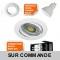 LOT DE 12 SPOT LED RONDE BLANC ORIENTABLE 5W 38° BLANC NEUTRE