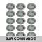 LOT DE 15 SPOT LED ENCASTRABLE COMPLETE ORIENTABLE ALU BROSSE AVEC AMPOULE GU10 230V 5W, BLANC NEUTRE