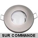 FIXATION SPOT SALLE DE BAIN ETANCHE NICKEL SATINE POUR AMPOULE HALOGENE OU LED IP44