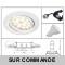 LOT DE 6 SPOT LED ORIENTABLE BLANC AVEC AMPOULE GU10 230V  eq. 50W, BLANC CHAUD