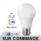 Ampoule LED V-TAC Culot E27 12W (éq.75W) 1055lm angle 200° lumière blanc chaud