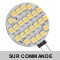 Ampoule G4 à 24 Leds SMD 1.2 Watts, Blanc Froid 6000K 12V AC/DC